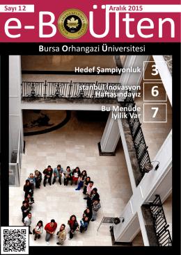 E-Bülten sayı 12 yayınlandı. - Bursa Orhangazi Üniversitesi