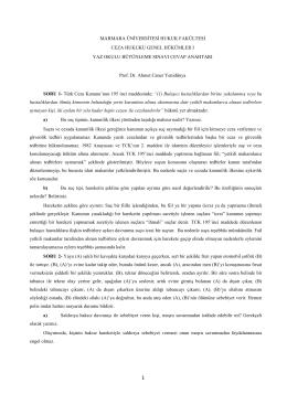 Ceza Hukuku Genel Hükümler - Marmara Üniversitesi Hukuk