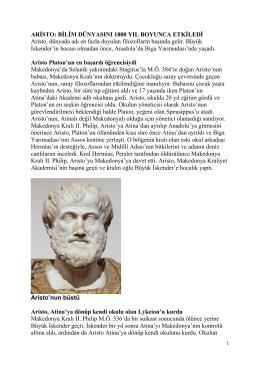 Aristo: Bilim Dünyasını 1800 Yıl Boyunca Etkiledi