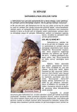 33-safranbolu`nun jeolojik yapısı