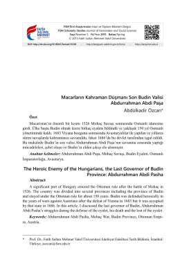 Macarların Kahraman Düşmanı Son Budin Valisi Abdurrahman Abdi