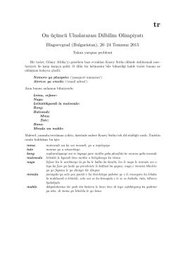 On üçüncü Uluslararası Dilbilim Olimpiyatı