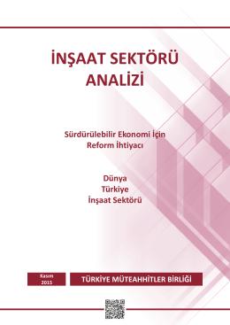 Sürdürülebilir Ekonomi İçin Reform İhtiyacı Dünya Türkiye İnşaat