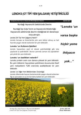 Lenoks - Gaziantep İl Gıda Tarım ve Hayvancılık Müdürlüğü