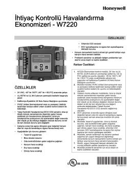 63-1363T—01 - İhtiyaç Kontrollü Havalandırma