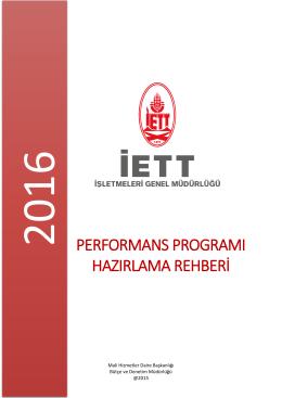 performans programı hazırlama rehberi