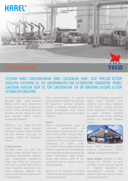 Müşteri Deneyimi Örnek Çalışma - TECO