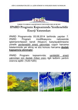 IPARD Programı Kapsamında Yenilenebilir Enerji Yatırımları