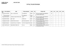 DAİRE PROJE NUMARASI : HK15-B7