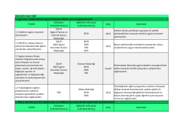 Bilişim Sektörü 2015 Yılı Eylem Planları