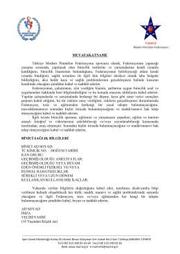 MUVAFAKATNAME Türkiye Modern Pentatlon Federasyonu