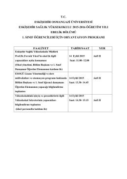 eskişehir sağlık yüksek okulu