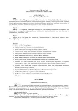 Fen Edebiyat Fakültesi Staj Yönergesi