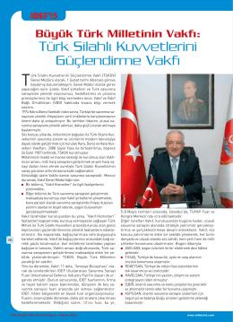 savunma-havacilik - Türk Silahlı Kuvvetlerini Güçlendirme Vakfı