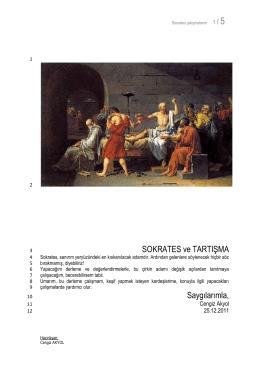 05 Sokrates ve Tartışma