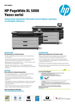HP PageWide XL 5000 Yazıcı serisi