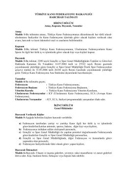 Harcırah Talimatı - Türkiye Kano Federasyonu
