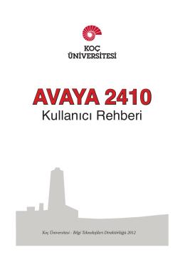 Kullanım Klavuzu - Koç Üniversitesi