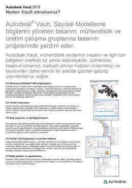 Autodesk ® Vault, Sayısal Modelleme bilgilerini yöneten tasarım