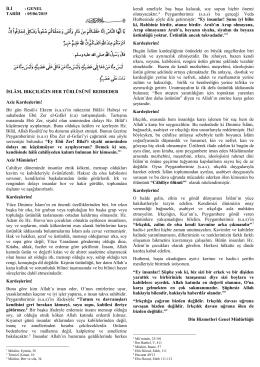 05.06.2015 islâm, ırkçılığın her türlüsünü reddeder