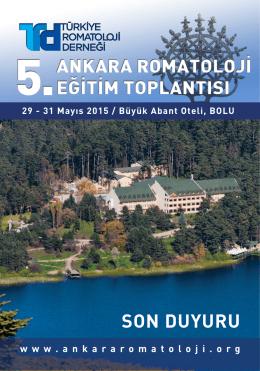 SON DUYURU - 6. Ankara Romatoloji Eğitim Toplantısı