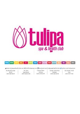 Tulipa Spa Health Club Tanıtım Dosyası