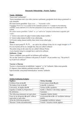 Ders Notu - Matematik Mühendisliği
