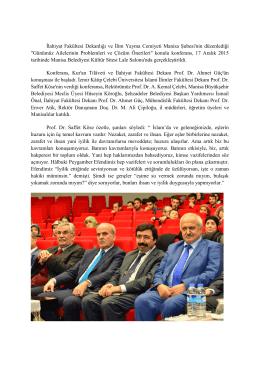 Genel Prof. Dr. Saffet KÖSE Manisa Belediyesi Kültür Sitesi Lale