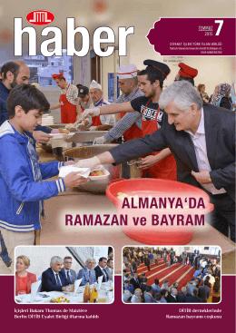 ALMANYA`DA RAMAZAN ve BAYRAM - DITIB Türkisch