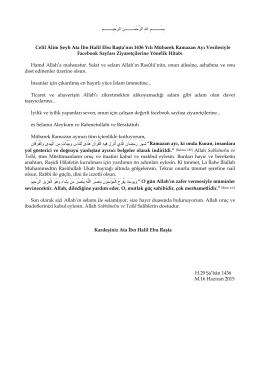 Celil Âlim Şeyh Ata İbn Halil Ebu Raşta`nın 1436 Yılı - Hizb-ut