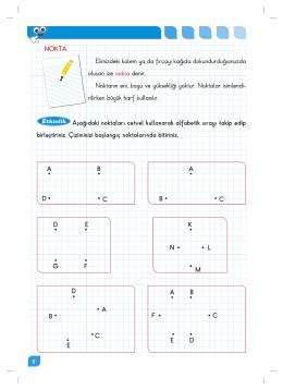 Etkinlik Aşağıdaki noktaları cetvel kullanarak alfabetik sırayı takip
