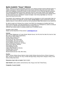 ``Şahin Çokbilir- İnsan`` albümü içerik dosyasını pdf
