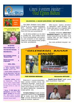 www.ozelyenigun.com 0224 242 47 45 Özel Eğitim Gerektiren
