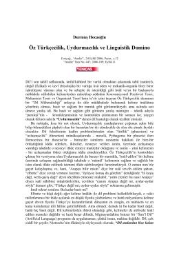 Öz Türkçecilik, Uydurmacılık ve Linguistik Domino
