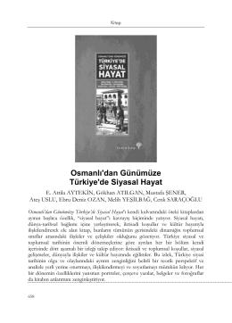 Osmanlı`dan Günümüze Türkiye`de Siyasal Hayat