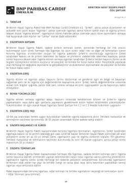 1. TARAFLAR Biriktiren Hayat Sigorta Paketi`nde BNP Paribas