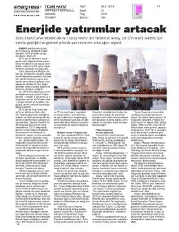 Şirketimiz Genel Müdürü Sn. Sinan Ak`ın Ticari Hayat Gazetesi`nde