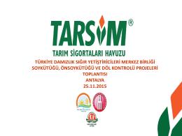 TARİFE - Türkiye Damızlık Sığır Yetiştiricileri Merkez Birliği
