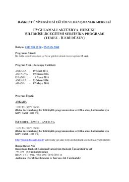 Aktüerya Hukuku ve Bilirkişilik Eğitimi Sertifika Programı