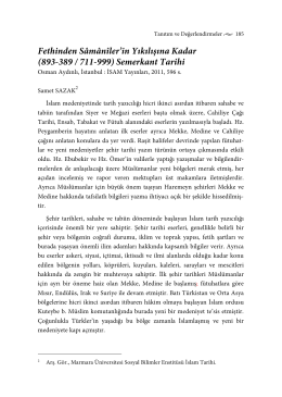 Fethinden Sâmânîler`in Yıkılışına Kadar (893-389 / 711