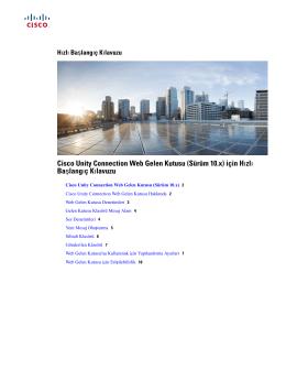 Cisco Unity Connection Web Gelen Kutusu (Sürüm 10.x) için Hızlı