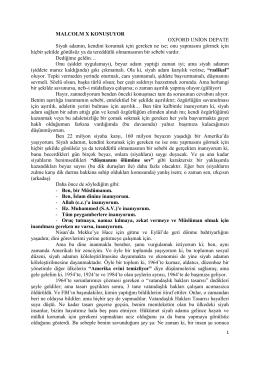 MALCOLM X KONUŞUYOR OXFORD UNİON