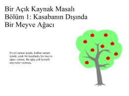 Bir Açık Kaynak Masalı Bölüm 1: Kasabanın Dışında Bir Meyve Ağacı