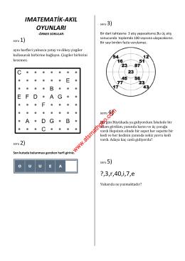 003 matematik ve akıl oyunları-3