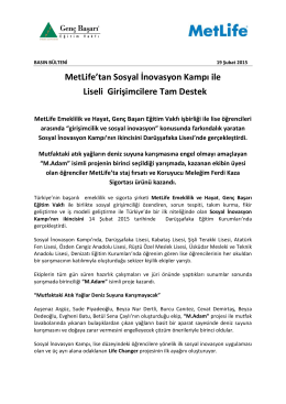 MetLife Sosyal İnavasyon Kampı PDF