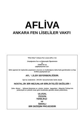 AFLİVA tanıtım broşürü