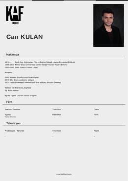 Can KULAN - Kaf Talent