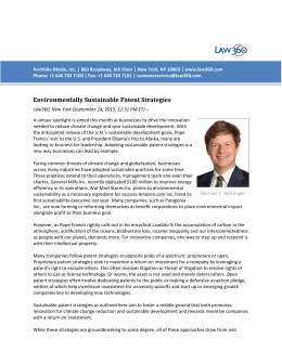 Environmentally Sustainable Patent Strategies, 2015-09-15