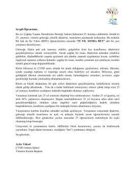 BISY Yazı Yarışması - ÇYDD Ankara Şubesi