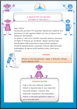 16 Şubat-27 Mart 2015 - Yönder Koleji, Ataşehir